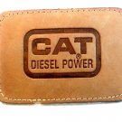 Vintage CAT Diesel Power Leather Belt Buckle
