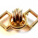 Vintage Art Deco Gold Tone Brooch