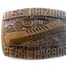 Vintage U.S.S. Arizona Memorial Pearl Harbor Belt Buckle