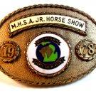 Vintage 1978 Gold Tone M.H.S.A. Michigan Hose Show Association Belt Buckle