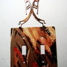 2 Kokopelli Flute Players Double Switch Cover Plate by Steel Images USA 022315F