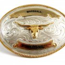 Silver Strike Marshall Harrah's Longhorn Belt Buckle 11262013
