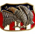 Red White & Blue & American Eagle Belt Buckle 62514