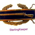 1982 Solid Brass Dress Military Infantry Rifle Belt Buckle