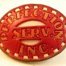 Vintage Perfection Service Inc. Leather Belt Buckle