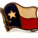 Vintage Gold Tone State of Texas Flag Eagle Belt Buckle