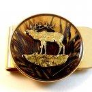 New Old Stock Moose in Brown Woods Money Clip