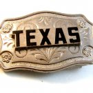 Small Vintage Silver Tone State of Texas Belt Buckle