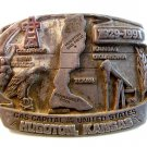 1991 Gas Capitol of The U.S. Hugoton KS Belt Buckle by Siskiyou