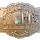 Vintage Yuma Territorial Prison Arizona Territory Belt Buckle