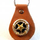 Western Cowboy Rodeo Key Chain with Silver & Gold Tone Star