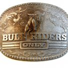 Vintage Bull Riders Only Belt Buckle Zee Series Award Design Medals