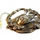Vintage Karu Sterling Silver Swan Brooch w/ Original Tag 08092013kd