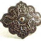 Ladies Victorian Style Silvertone Belt Buckle Unmarked 092214