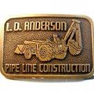 Vintage L. D. Anderson Pipe Line Construction Belt Buckle