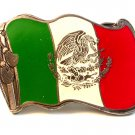Vintage Flag of Mexico Belt Buckle Made in U.S.A. by Buckle Bakery