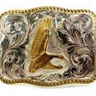 Crumline Silver & Gold Tone Duck / Goose Belt Buckle 11042013
