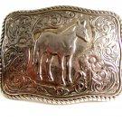 Vintage Western Cowboy Standing Horse Belt Buckle 12022013