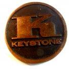 Vintage Solid Brass K Keystone Belt Buckle