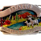 Vintage 1983 Siskiyou Idaho Where Life Is Worth Living Belt Buckle