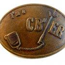 Vintage I'm a CB / ER Belt Buckle