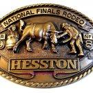 1981 Hesston Cowboy Rodeo Western Clown Brass Belt Buckle Limited Edition