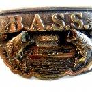 1990 B.A.S.S. Bass Solid Brass Belt Buckle Made in U.S.A.