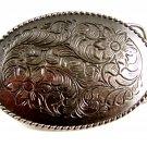 Cowboys Western Silvertone Fancy Belt Buckle No. 2 5214