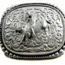 Western Cowboy Rodeo Bull Riding Belt Buckle by Silver Strike 3D