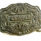 Vintage GEORGE Belt Buckle by Oden 10242013