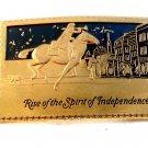 Vintage Rise of the Spirit of Independence Belt Buckle