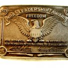 Vintage NRA Leadership Award Freedom  Belt Buckle
