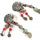 Vintage Tribal Dangley Earrings Unbranded 7715