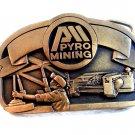 Vintage Pyro Mining Belt Buckle