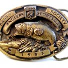 1993 B.A.S.S. Bass Anglers Sportsmans Society Belt Buckle Made in U.S.A.