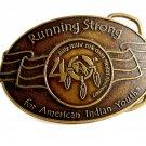 Billy Mills Running Strong 40 10K Gold Medal Belt Buckle 12042013
