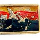 1970's Enameled Ducks In Flight Belt Buckle 04228014 by Kolcaco