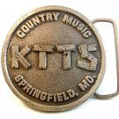 Vintage KTTS Country Music Springfield Missouri Belt Buckle