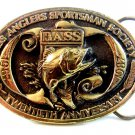 1987 Bass Anglers Sportsman Society 20th Anniversary Belt Buckle Made in U.S.A.
