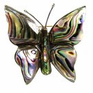 Vintage Mexican Sterling & Abalone Butterfly Brooch Signed Old Eagle Mark 102014