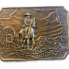 Vintage Tall In The Saddle Western Cowboy Belt Buckle