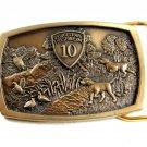 Bridgestone Firestone 10 Years Hunting Dog Quail Belt Buckle by Jostens 82014