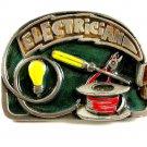 Electrician Enameled Belt Buckle 81914
