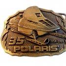 Vintage Polaris Ski Mobile 35 Years 1954 - 1989 Belt Buckle