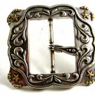 Ladies Western Cowgirl Silvertone Belt Buckle Unmarked 092214