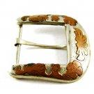 Mexican Western Cowboy Alpaca & Copper Ranger Belt Buckle 82114