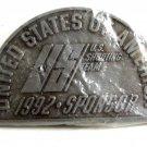 U.S. of A. 1992 Sponsor US Shooting Team Belt Buckle 82814 Mint in Plastic