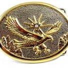 Unmarked Silvertone & Goldtone American Eagle Belt Buckle 10292013