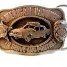 Vintage 1983 Siskiyou American Lawmen To Serve & Protect Belt Buckle