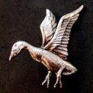 Danecraft Sterling Silver Goose Or Duck In Flight Brooch